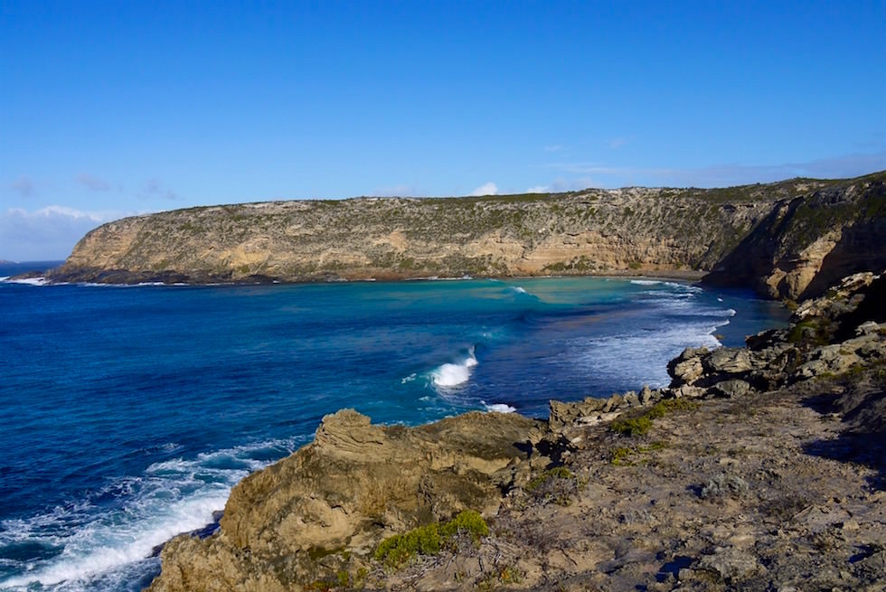 Blick auf Moonlight Bay - Whalers Way - South Australia