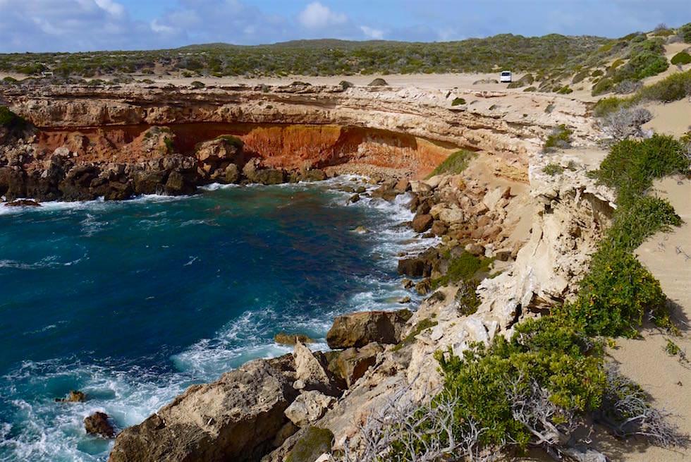 Redbanks: die roten Klippen von Whalers Way auf der Eyre Peninsula - South Australia