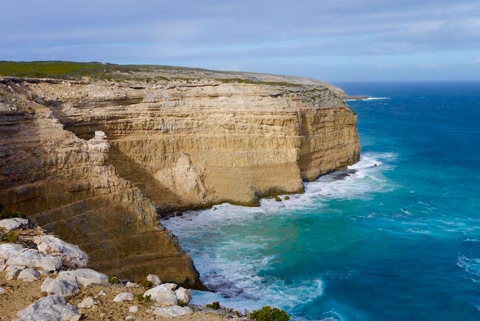 Ausblick auf die atemberaubenden Klippen der Blue Whale Bay - Whalers Way auf Eyre Peninsula - South Australia