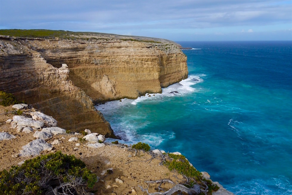 Faszinierende Klippen an der Blue Whale Bay - Whalers Way auf Eyre Peninsula - South Australia