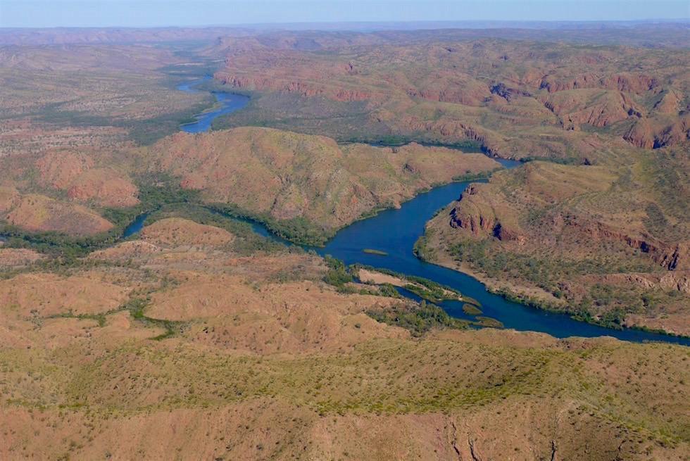 Verlauf Upper Ord River - Kununurra - Kingfisher Tours - Kimberley - Western Australia