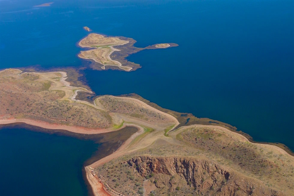 Inseln im Lake Argyle - Scenic Flight Kinfisher Tour - Kimberley - Western Australia