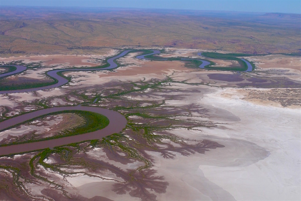 Fantastischer Ausblick - Five River in Wyndham - Kingfisher Scenic Flight - Kimberley - Western Australia