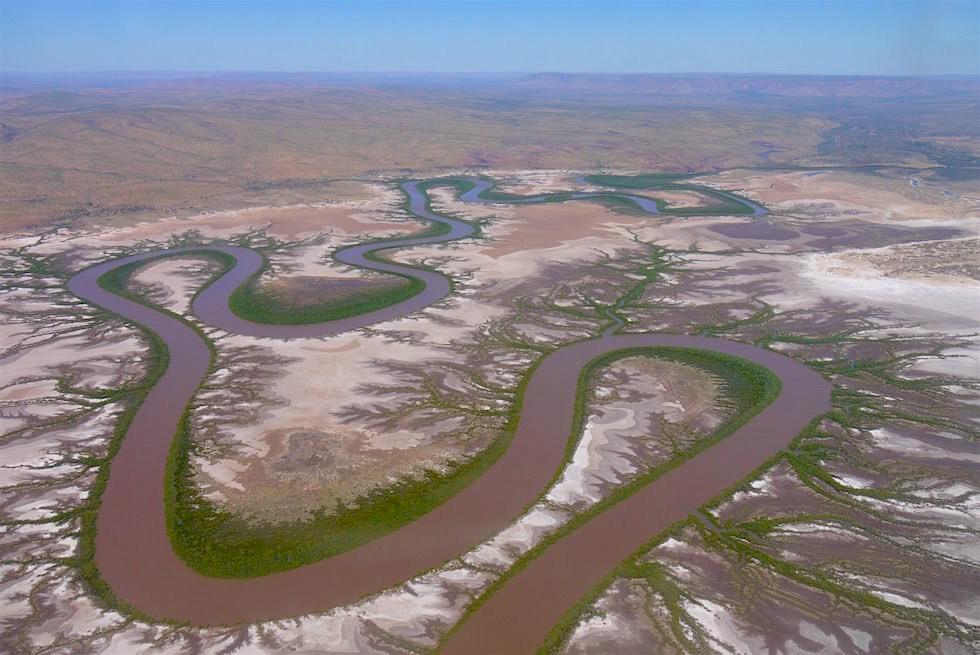 King River von oben mit Kingfisher Scenic Flights - Windham Wetland - Kimberley - Western Australia