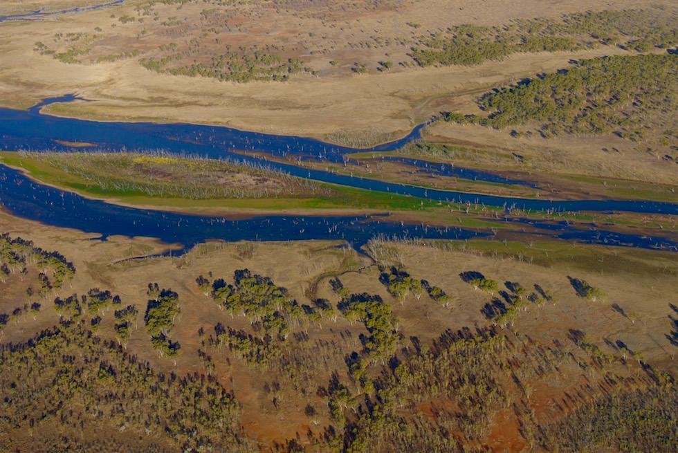 Upper Ord River mündet in den Lake Argyle in den Kimberley - Western Australia