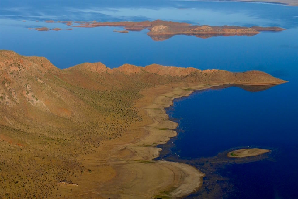Lake Argyle von oben - Kingfisher Scenic Flight - Western Australia