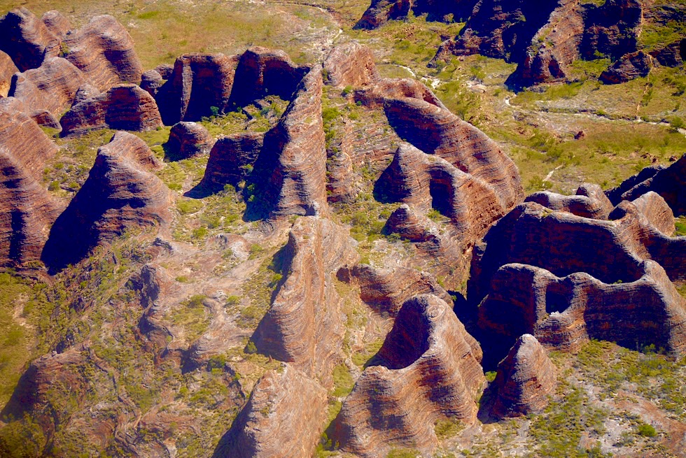 Purnululu National Park & Piccaninny Creek von oben gesehen - Kingfisher Tours Scenic Flight - Kimberley - Western Australia