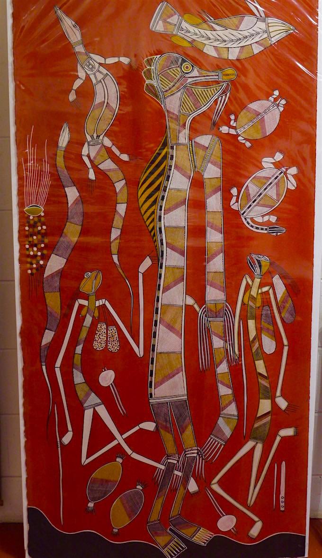 Riesiges Bild - Aboriginal Malerei - Arnhem Land - Northern Territory