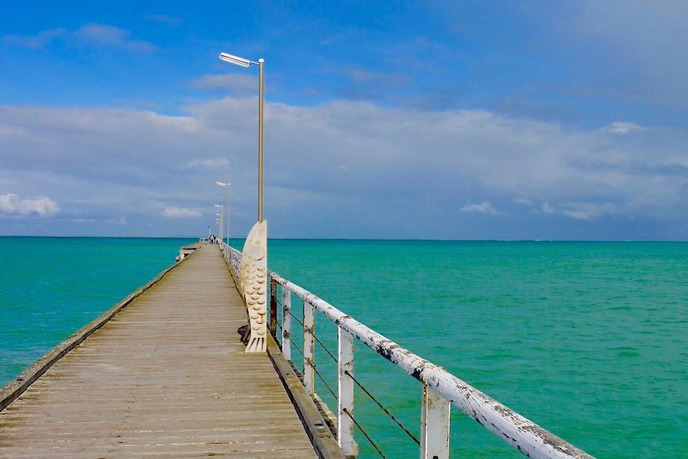 Beachport Jetty aus der Mitte gesehen - South Australia