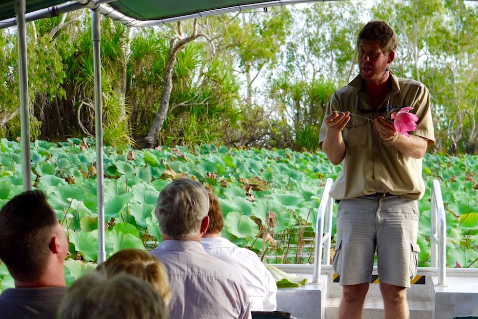 Begeisterte Guides wissen alles über Corrobee Billabong - Wetland Cruises - Northern Territory