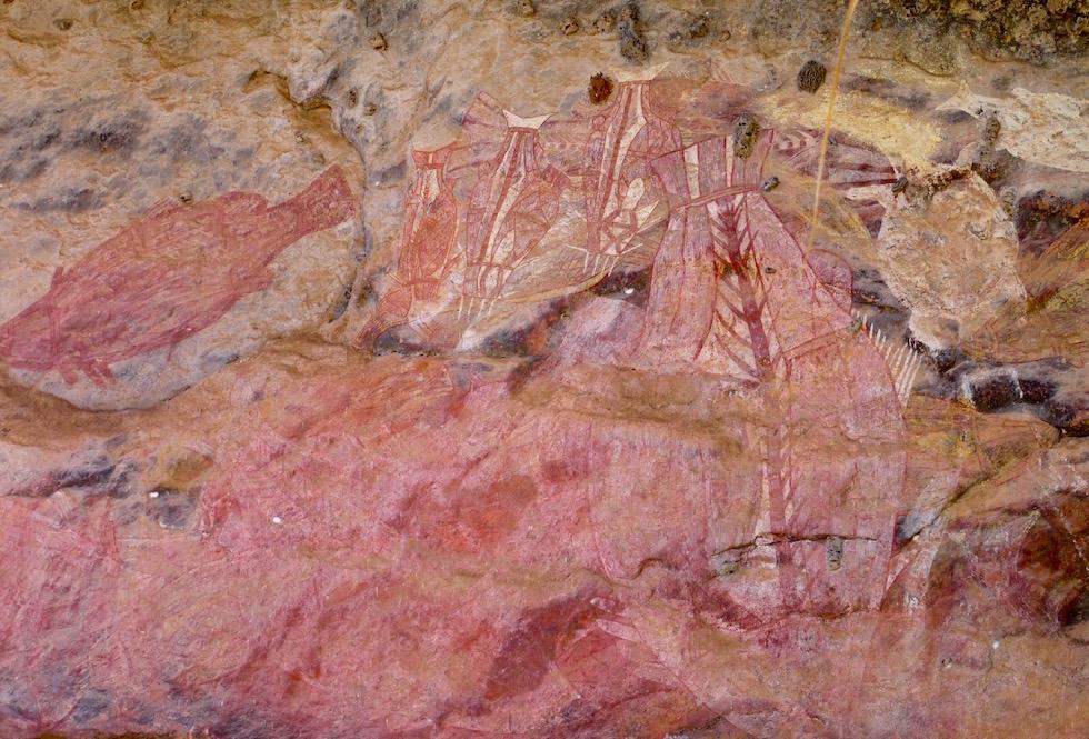 Fische Wandmalerei -Arnhem Land - Northern Territory