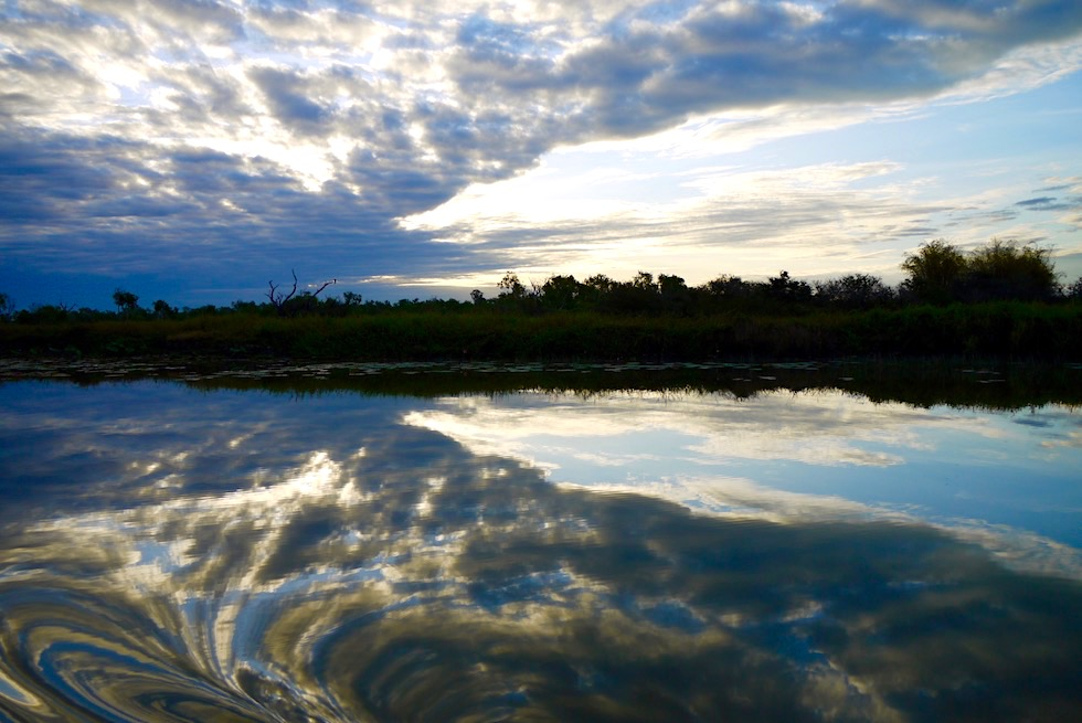 Nachmittagsstimmung mit Wolken - Corroboree Billabong - Northern Territory
