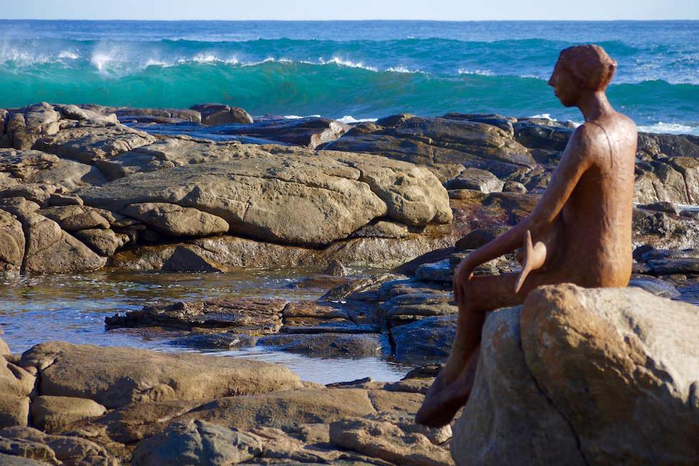 Frau mit Fisch - Statue am Prevelly Beach - Margaret River - Western Australia