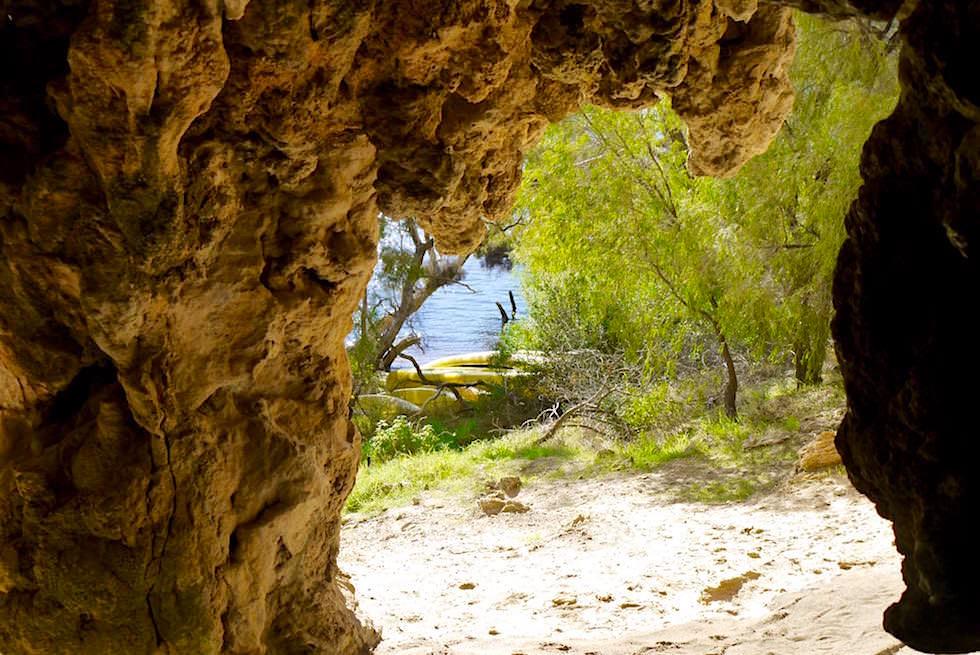 Höhleneingang - Bushtucker Caves & Canoe Margaret River - Western Australia