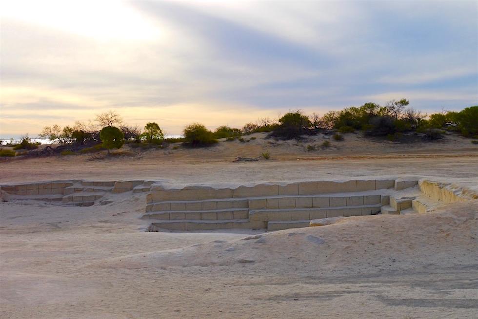 Muschelsteinbruch - Sonnenuntergang bei Hamelin Pool - Shark Bay- Western Australia