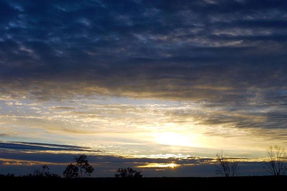 Sonnenuntergang - Hamelin Pool Caravan Park - Western Australia
