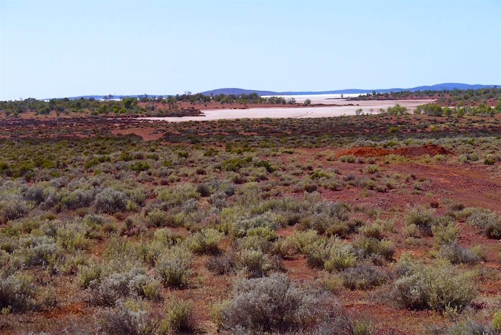 Erster Blick auf Lake Gairdner & Grawler Ranges - South Australia