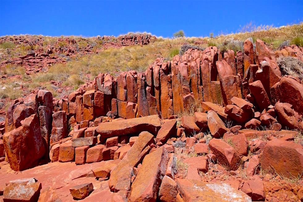 Kleine Orgelpfeifen - Mt Ive Station beim Lake Gairdner - South Australia