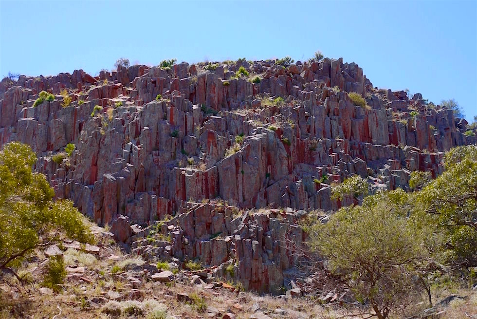 Organ Pipes - Felsfromation auf der Mt Ive Station am Lake Gairdner - South Australia