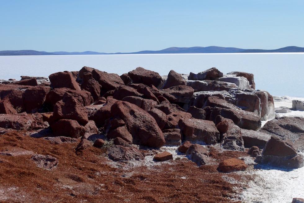 Merke dir einen Referenzpunkt auf dem Lake Gairdner Spaziergang - South Australia