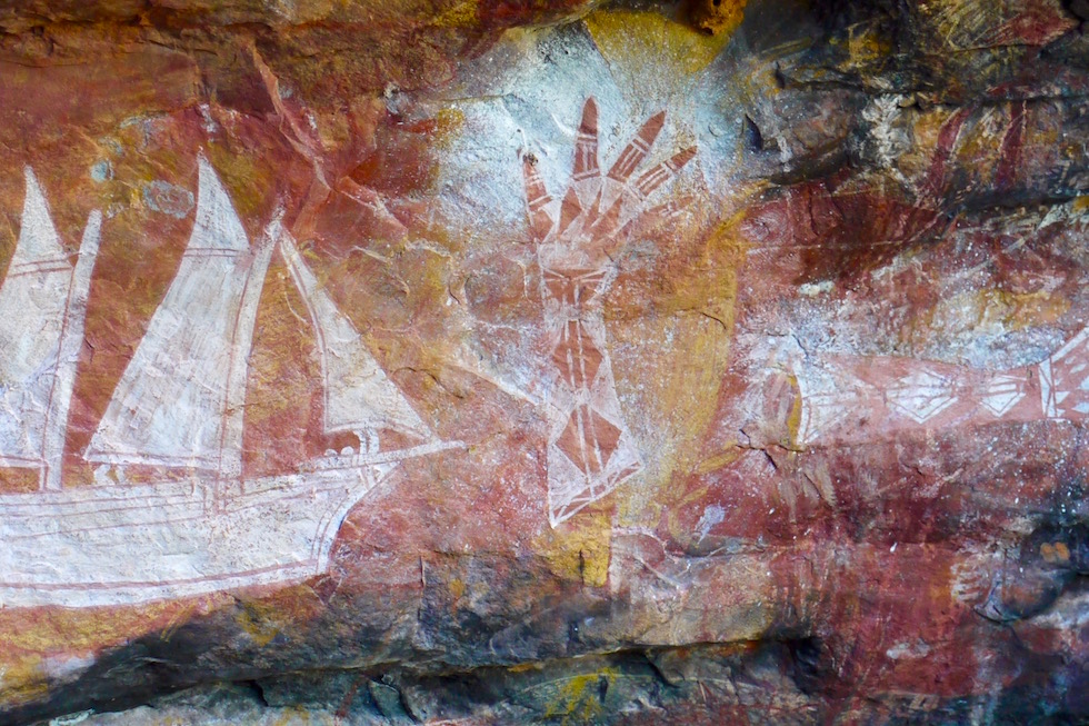 Schiff: Neuere Wandmalerei - Arnhem Land - Northern Territory