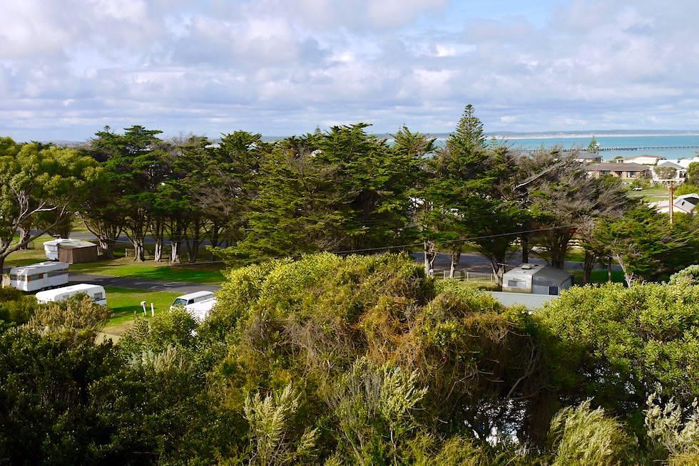 Blick auf den Southern Ocean Tourist Park im wunderschönen Beachport - South Australia
