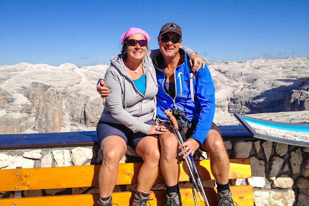 Vorfreude auf die leichte Piz Boe Wanderung - Sella - Dolomiten, Südtirol