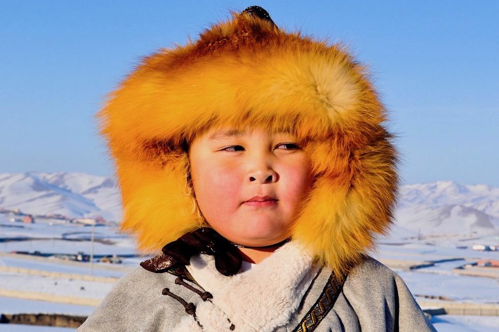 Kinder lachen - Mongolei