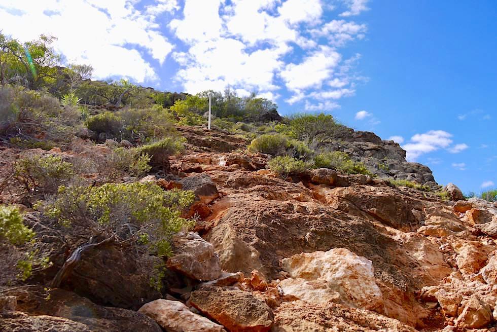 Aufstieg bzw. Abstieg - Mandu Mandu Schlucht - Cape Range National Park - Western Australia