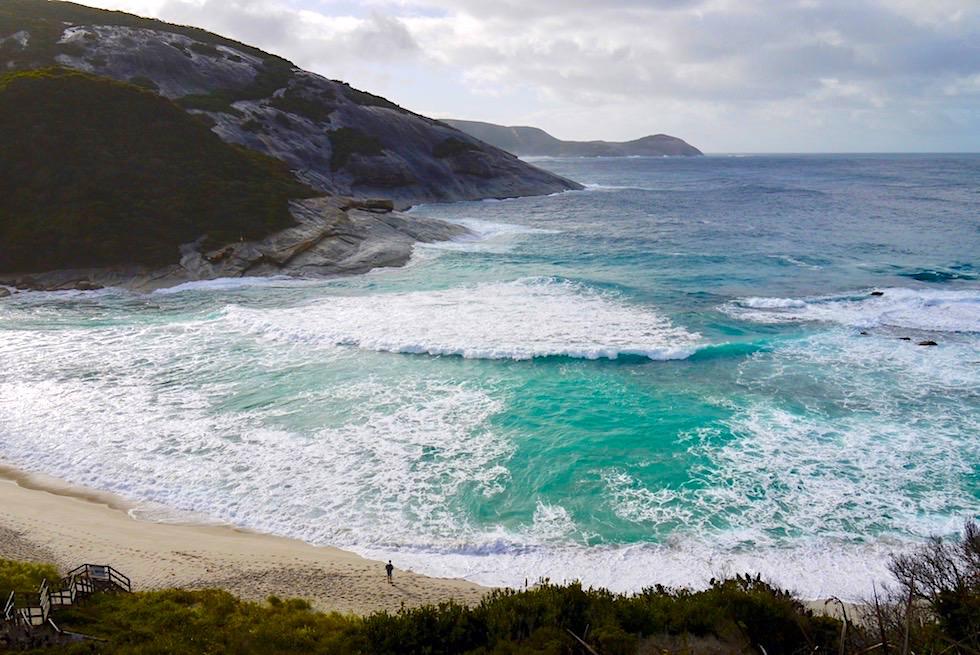 Blick hinab auf Salmon Holes - Torndirrup National Parks - Rainbow Coast Highlights - Western Australia