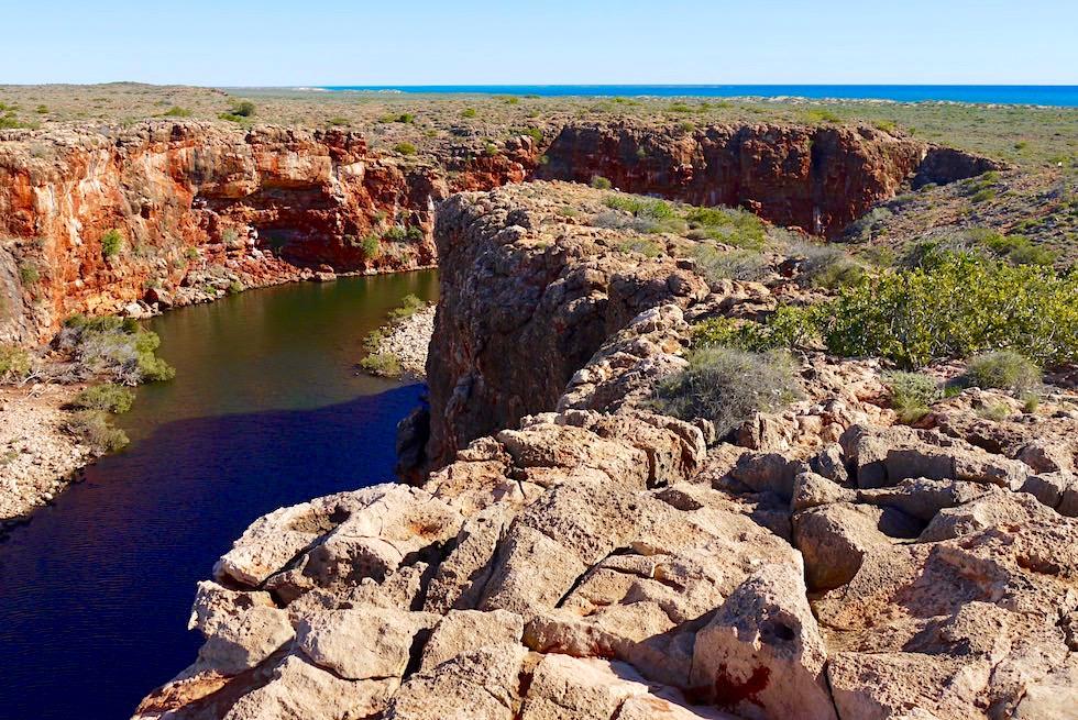 Blick hinunter - Yardie Creek - Western Australia