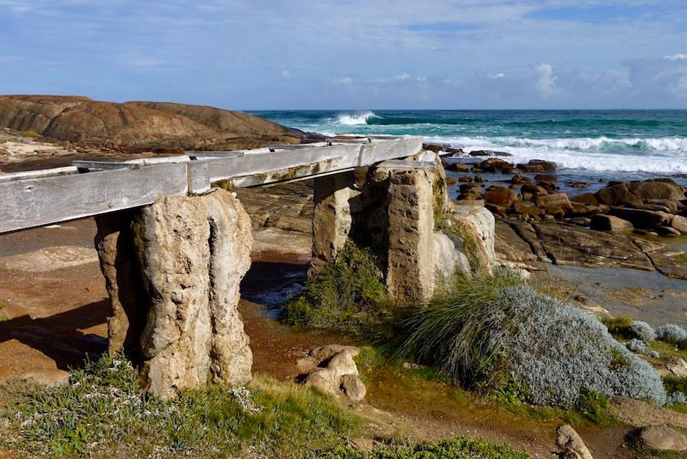 Wasserleitung und Wasserrad - Cape Leeuwin Water Wheel - Augusta - Western Australia