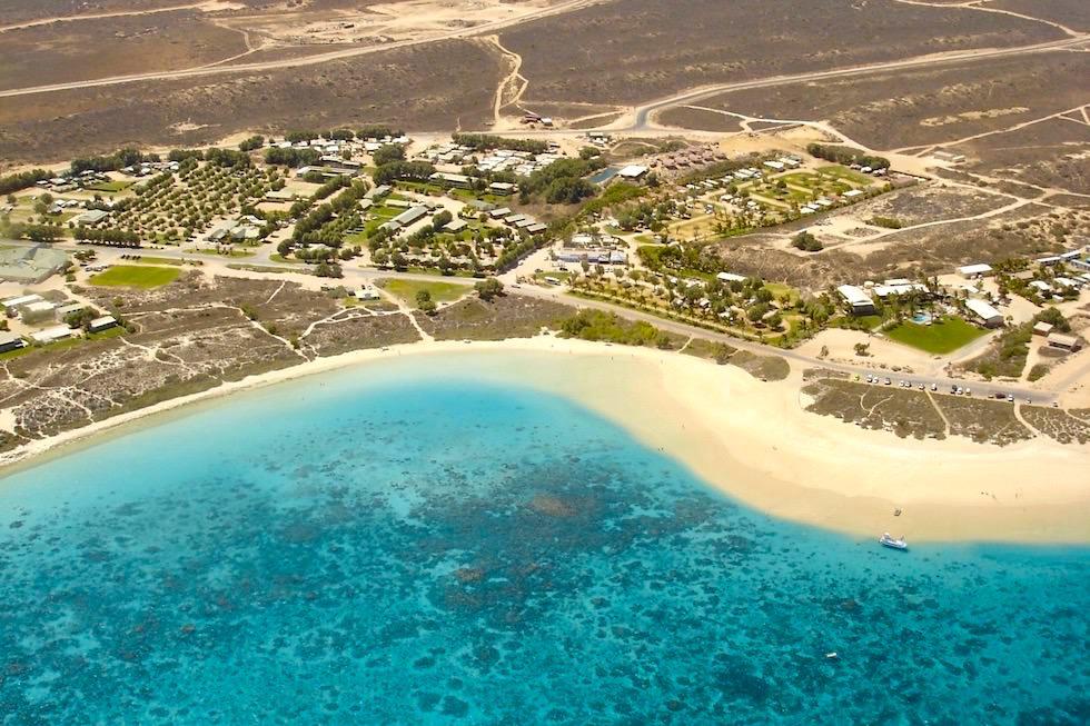 Coral Bay & Ningaloo Reef von oben - Western Australia