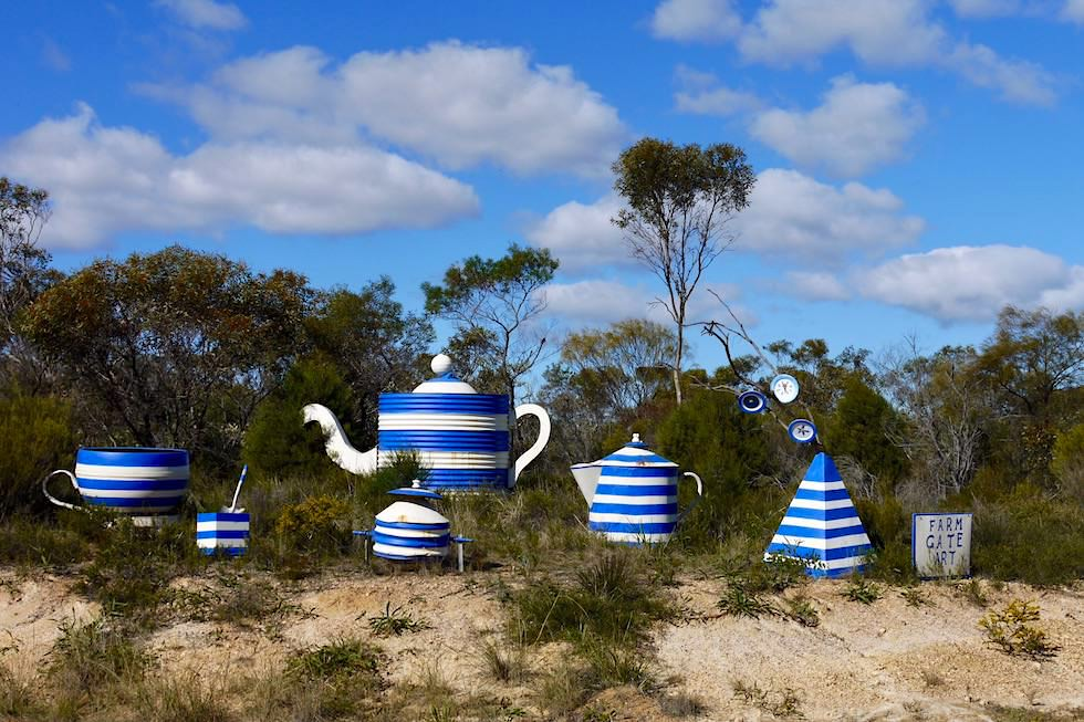 "Farm Gate Art Trail - ""Country High Tea"" Skulptur - Hopetoun - Western Australia"