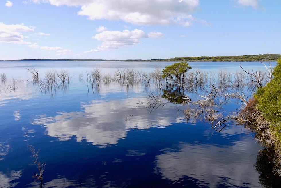 Culham Inlet: Wolken spiegeln sich im See - Fitzgerald River - Western Australia