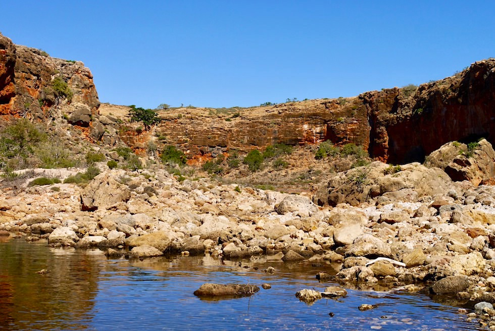 Ende der Yardie Creek Boat Tour - Cape Range National Park - Exmouth - Western Australia