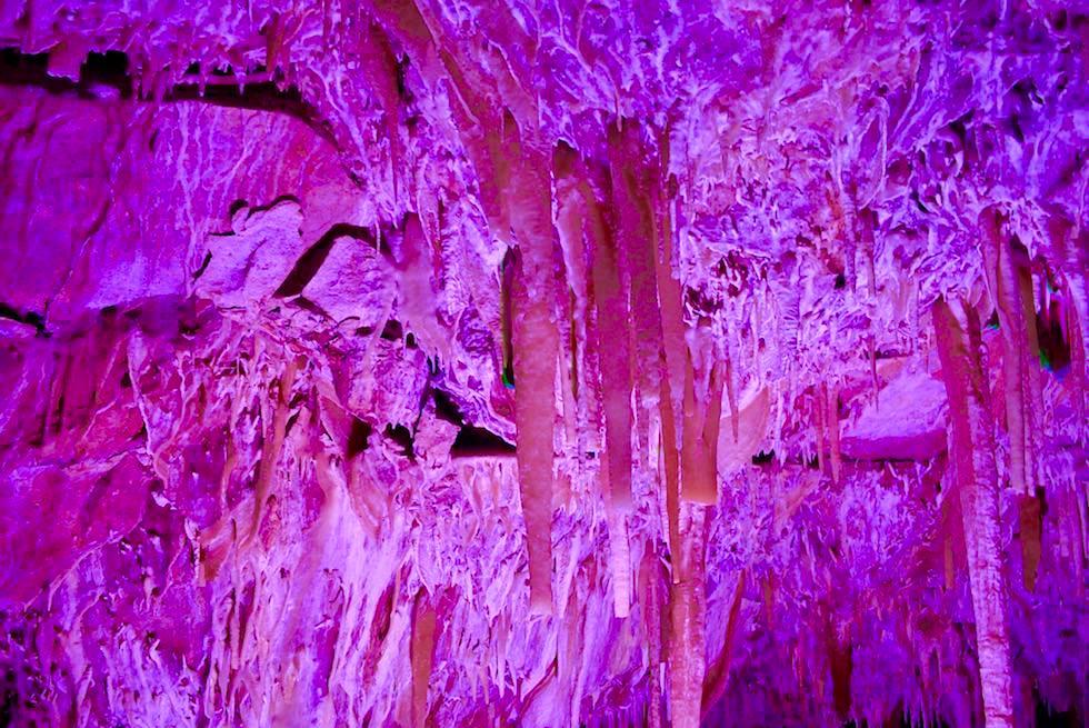 Farbenspiele & Lichteffekte - Ngilgi Cave an der Margarete River Caves Road - Western Australia