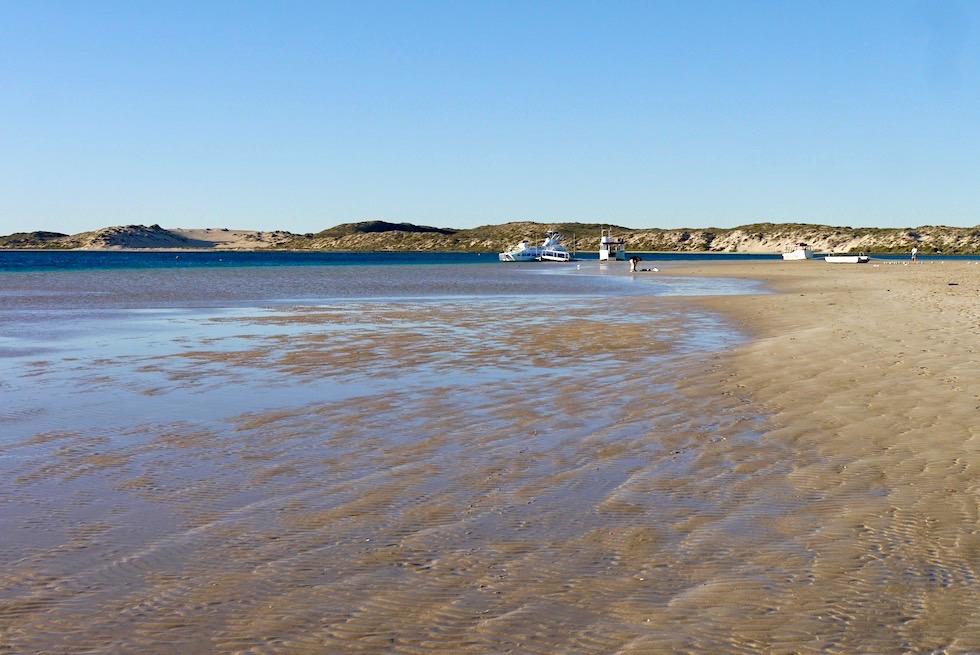 Gesichter von Bill's Bay - Hauptstrand Coral Bay bei Ebbe - Western Australia
