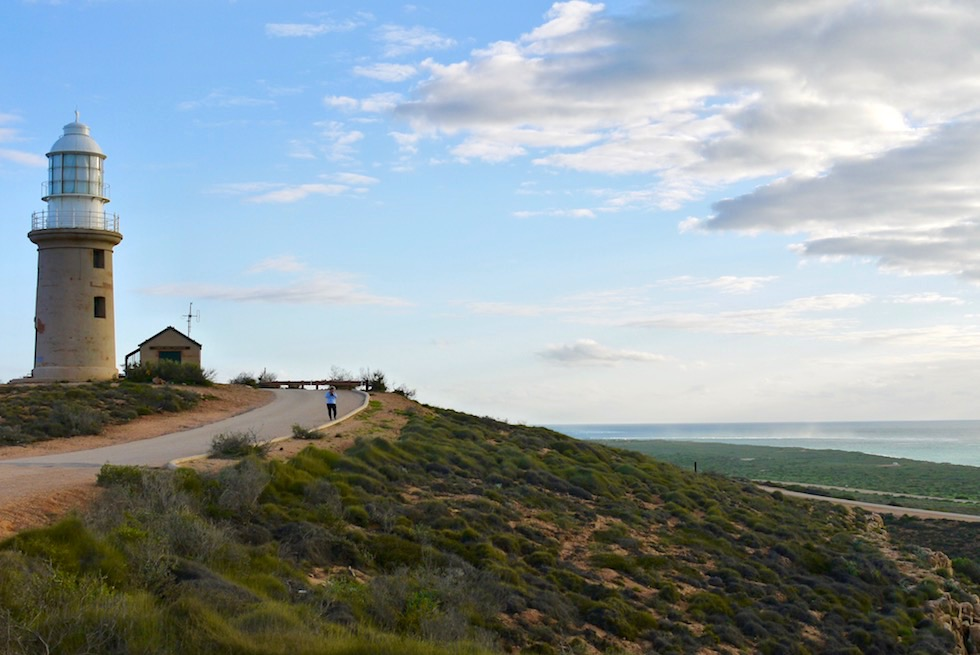 Vlamingh Head Lighthouse - beliebter Ort um Sonnenuntergänge zu beobachten - North West Cape & Cape Range NP - Western Australia