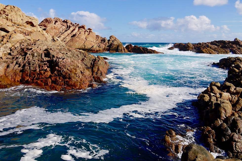 Meeresbecken bei der Aussichtsplattform - Canal Rocks - Yallingup, Cape Naturaliste Coast - Western Australia