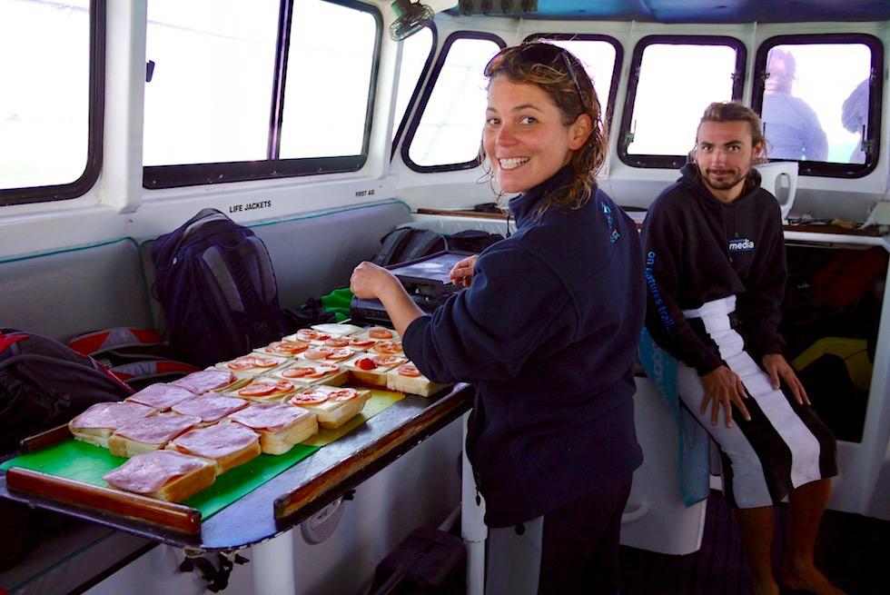 Schnorcheln mit Mantas - Mittagessen auf der Utopia - Coastal Adventure Tours Coral Bay - Western Australia