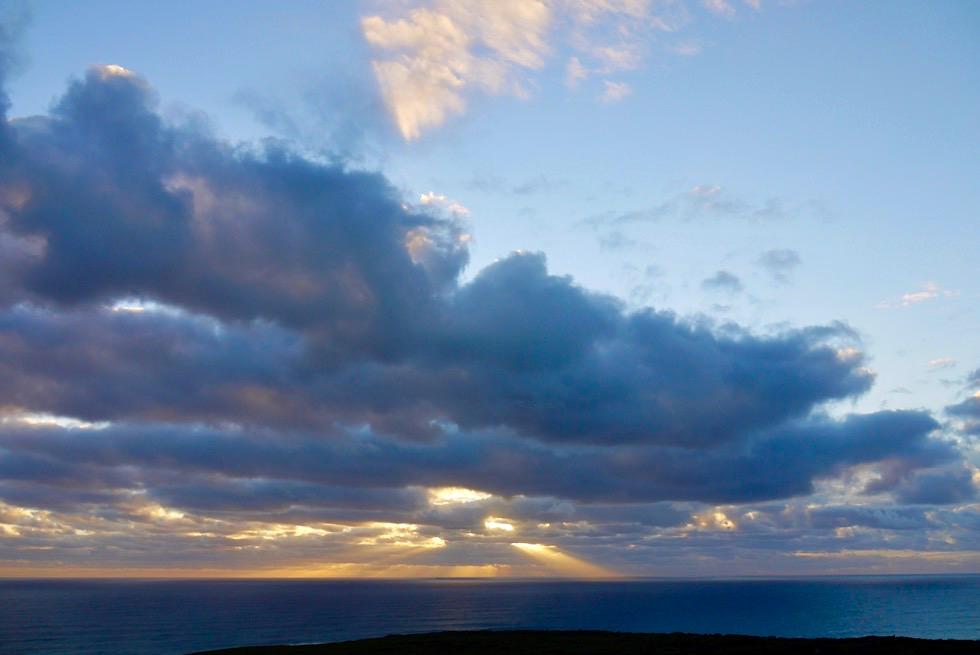 Sonnenuntergang & Blick in Richtung Norden - Cape Naturaliste Lighthouse - Leeuwin-Naturaliste National Park - Western Australia