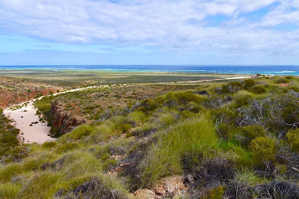Panoramablick über die Mandu Mandu Schlucht - Wanderung im Cape Range National Park - Western Australia