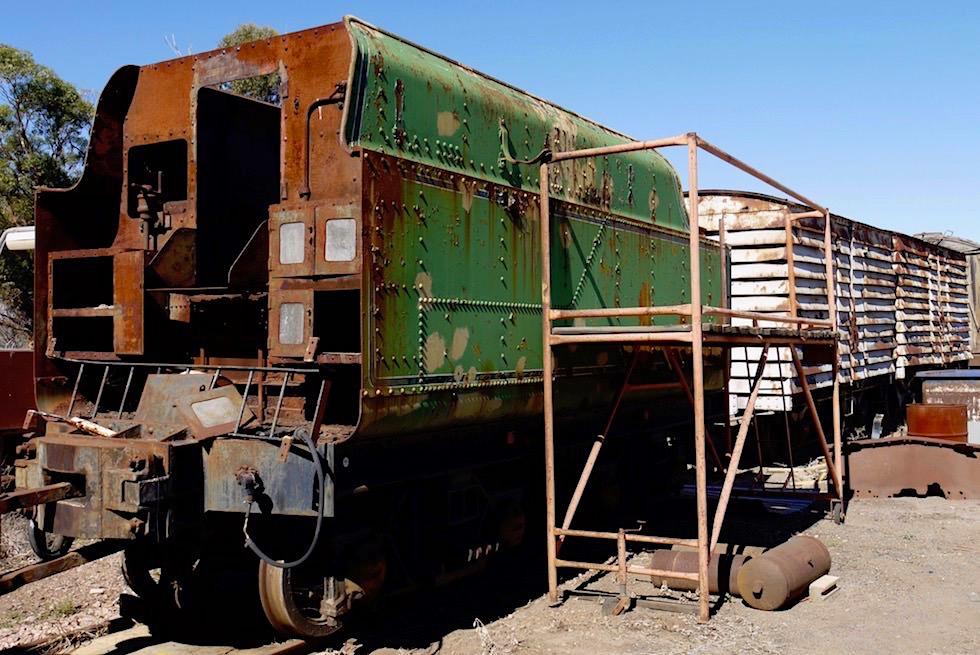 Pichi Richi Railway in Quorn - Eisenbahnwagen zum reparieren - South Australia