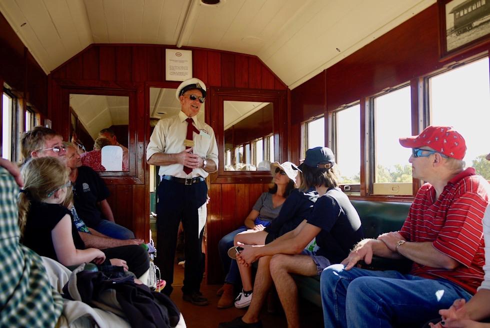 Pichi Richi Explorer - Abteilwagen innen - Quorn - South Australia