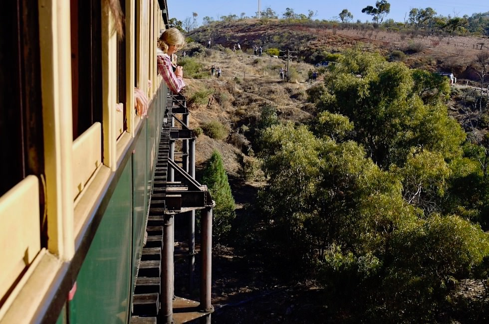 Pichi Richi Explorer zum Pichi Richi Pass - Brückenüberquerung - Southern Australia