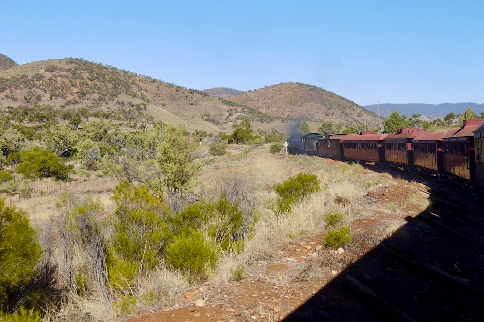 Pichi Richi Explorer - die Fahrt beginnt - South Australia