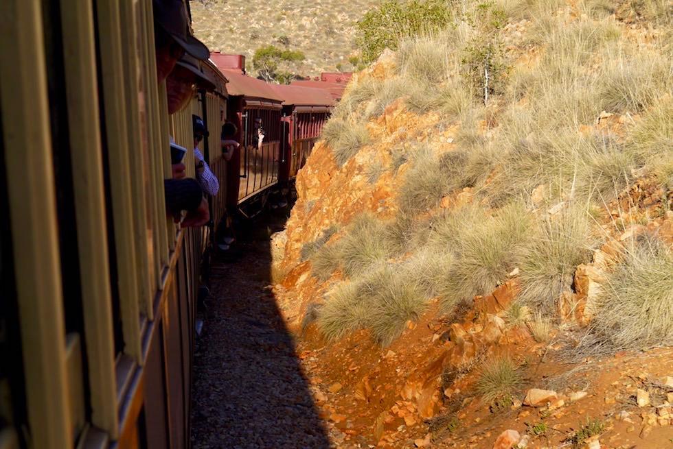 Pichi Richi Explorer nach Quorn - Fahrt eng - South Australia