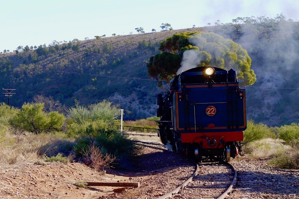 Pichi Richi Railway in Quorn - Dampflokomotive - South Australia