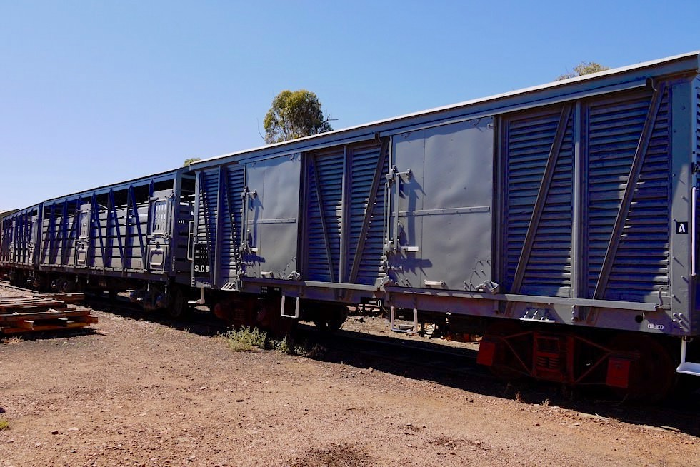 Pichi Richi Railway in Quorn - Restaurierter Viehwagen - South Australia